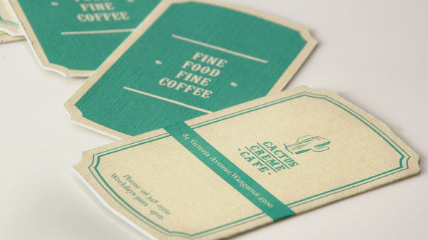 Cactus Creme Cafe 1 Print Design Inspiration
