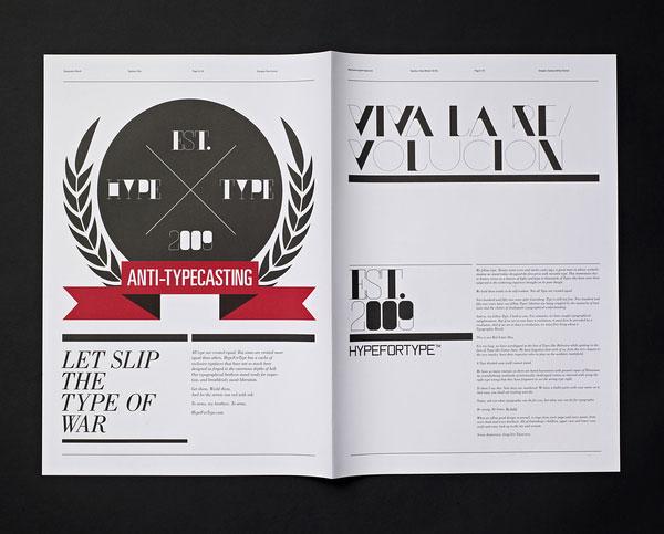Typographic Revolt - HypeForType Typefaces 2 Print Design Inspiration