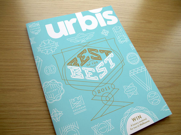 Urbis Magazine - Best of the Best 2011 Cover Print Design Inspiration