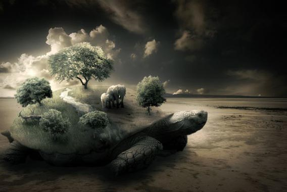 Create-a-Surreal-Turtle-Image 91 Photoshop Photo Manipulation Tutorials: Become A Pro