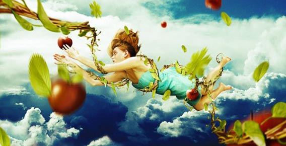 create-a-falling-fantasy-photomanipulation-using-painting 91 Photoshop Photo Manipulation Tutorials: Become A Pro