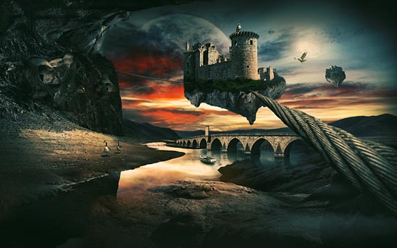 91 photoshop photo manipulation tutorials become a pro for Creating a landscape