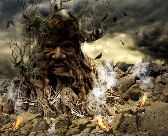 fantastic_tree_1 91 Photoshop Photo Manipulation Tutorials: Become A Pro