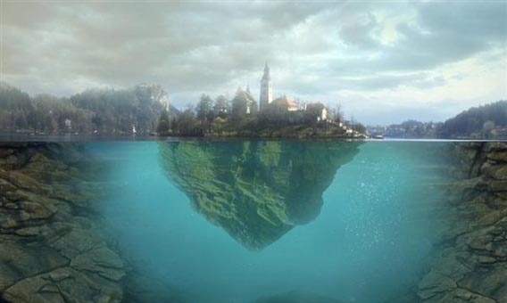 floating-island-on-water 91 Photoshop Photo Manipulation Tutorials: Become A Pro