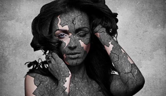 grunge-stone-woman-photo-manipulation-in-photoshop 91 Photoshop Photo Manipulation Tutorials: Become A Pro