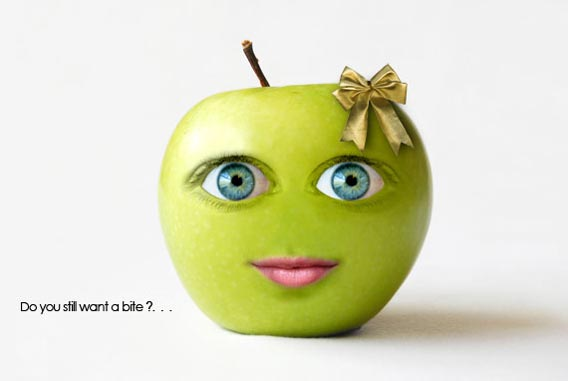 how-to-create-a-cute-green-apple-photo-manipulation 91 Photoshop Photo Manipulation Tutorials: Become A Pro