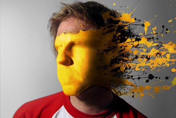 how-to-mold-paint-splatter-to-a-face-in-photoshop 91 Photoshop Photo Manipulation Tutorials: Become A Pro