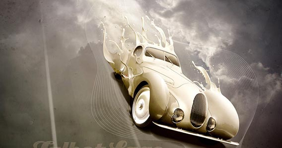 luxury_classic_car 91 Photoshop Photo Manipulation Tutorials: Become A Pro