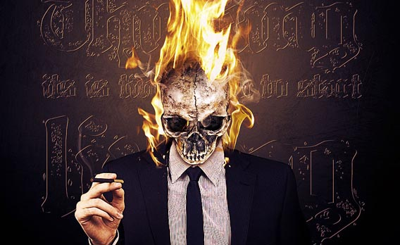 make-a-vivid-flaming-skull-conceptual-composition 91 Photoshop Photo Manipulation Tutorials: Become A Pro