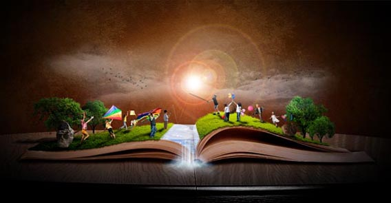 making-a-book-of-magical-playground 91 Photoshop Photo Manipulation Tutorials: Become A Pro