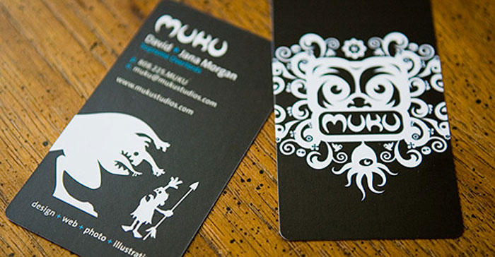Muku Studios Black Business Card