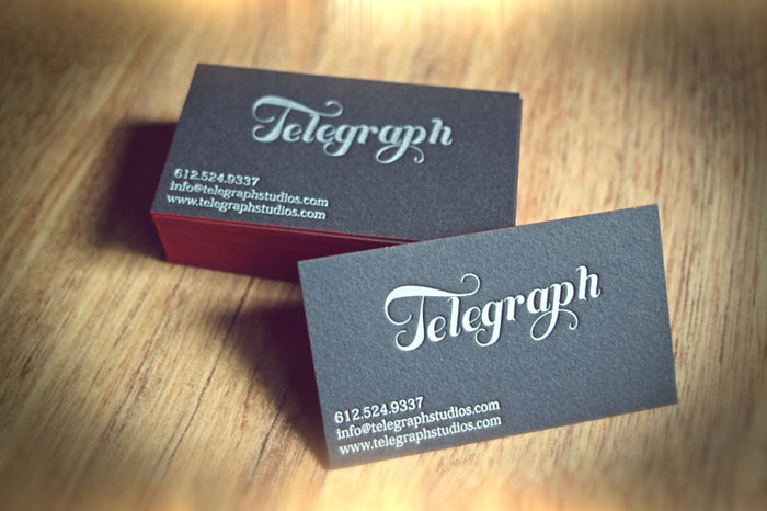 Telegraph Black Business Card
