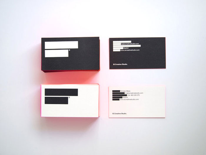 IS Creative Studio Black Business Card