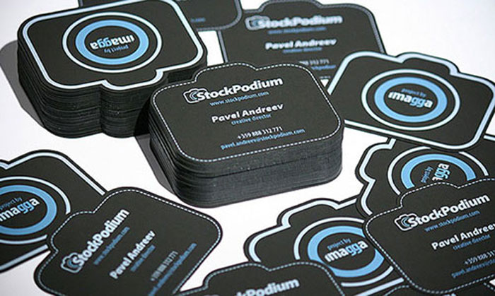 StockPodium Black Business Card