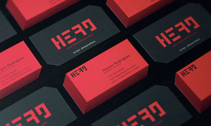 Hero Black Business Card