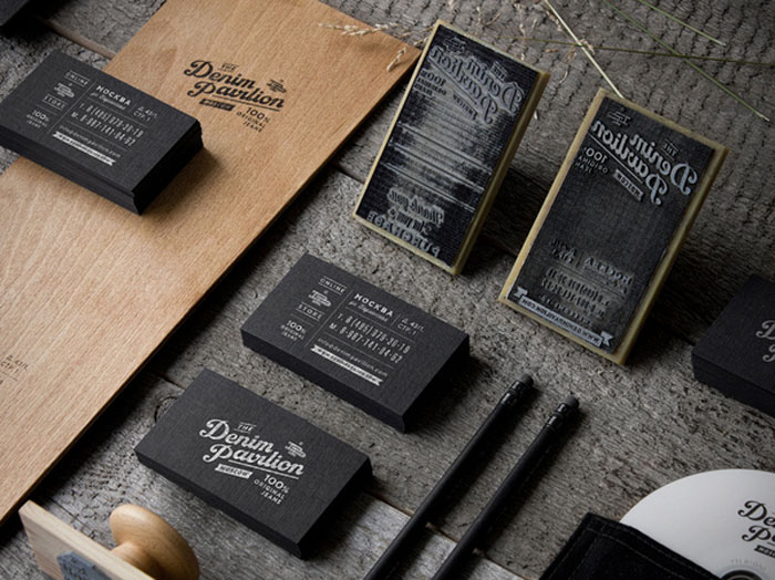 Denim Pavilion Black Business Card