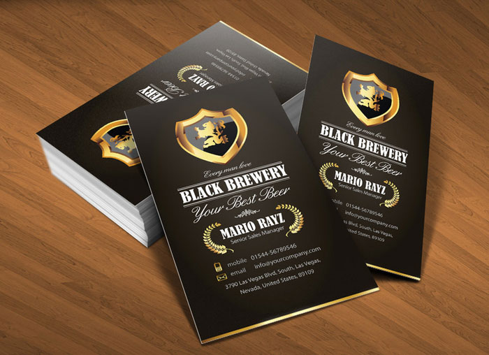 Black brewery Black Business Card