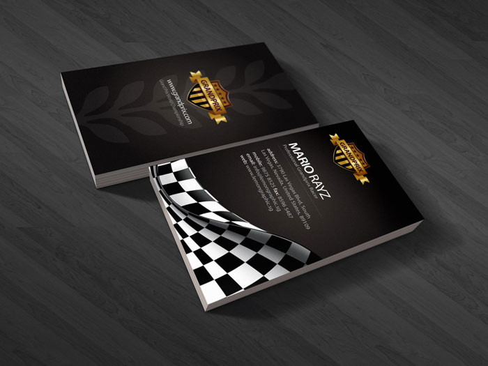 Grandprix Black Business Card