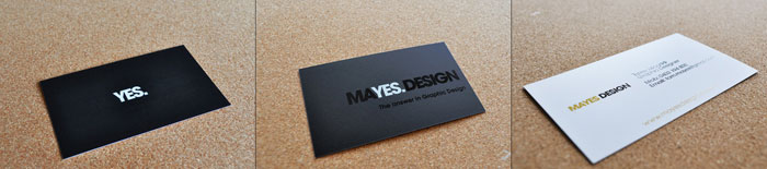 Mayes Design Black Business Card