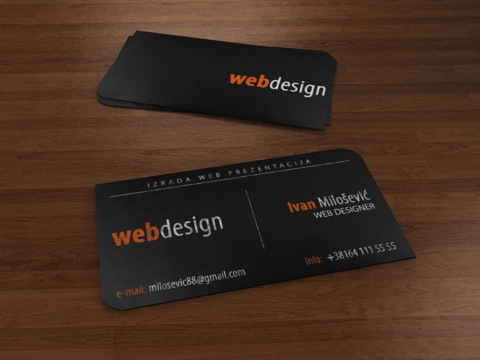 Ivan Milosevic Business Card Black Business Card