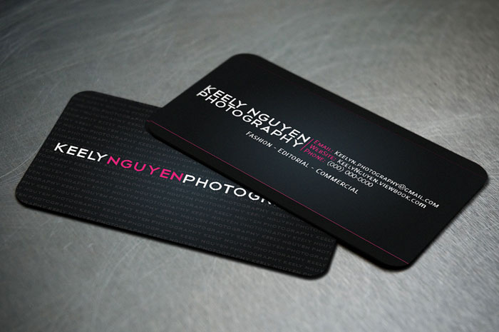 Business Card IV Black Business Card
