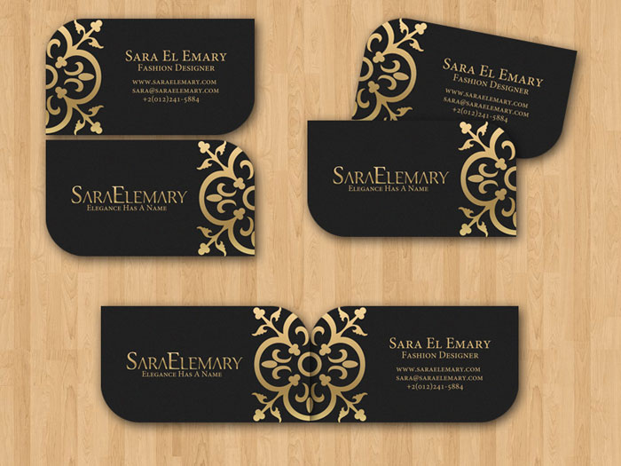 Sara El Emary Business Card Black Business Card