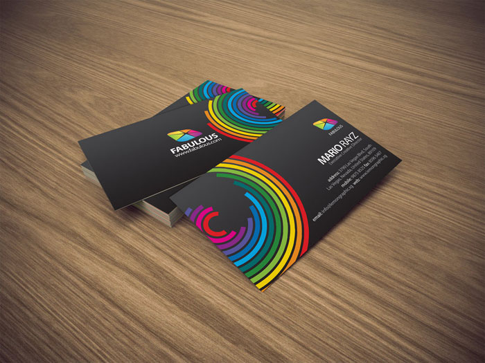 Fabulous Black Business Card