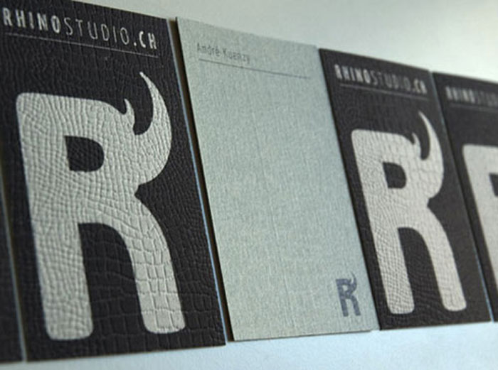 Rhino Studio Black Business Card
