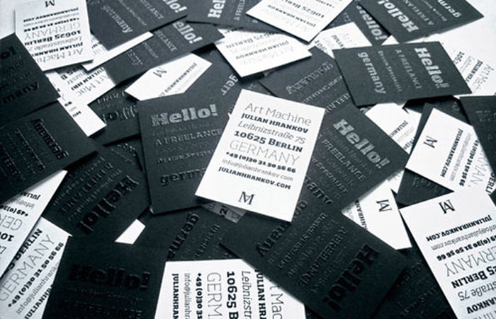 Julian Hrankov Black Business Card