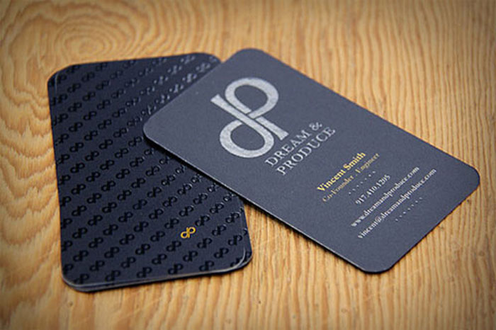 Dream & Produce Black Business Card
