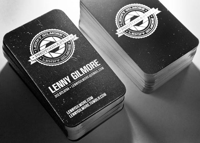 Lenny Gilmore Black Business Card