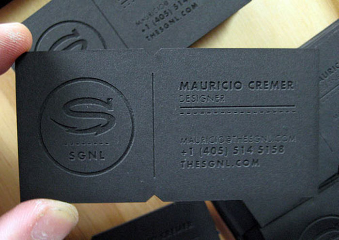 SGNL Black Business Card