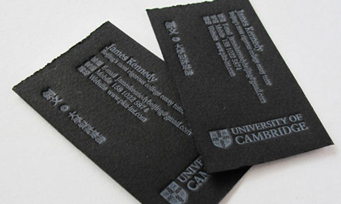 University of Cambridge Black Business Card