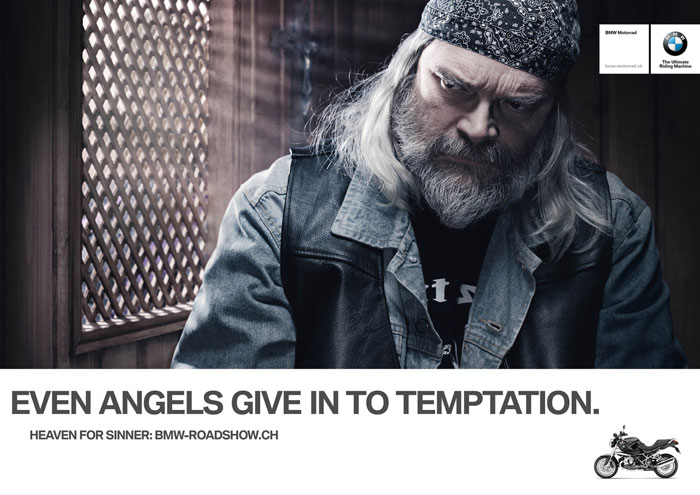 Even angels give in to temptation Print Advertisement