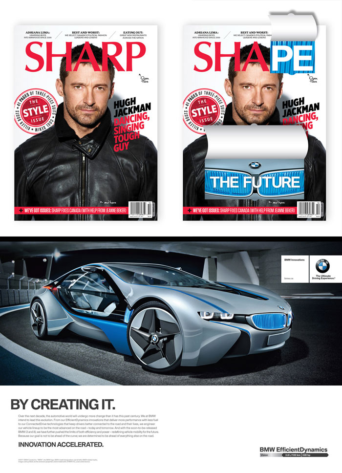 Shape the Future – By Creating It Print Advertisement