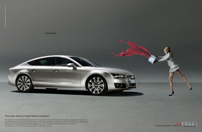 Jealousy. The new Audi A7 Sportback quattro Print Advertisement