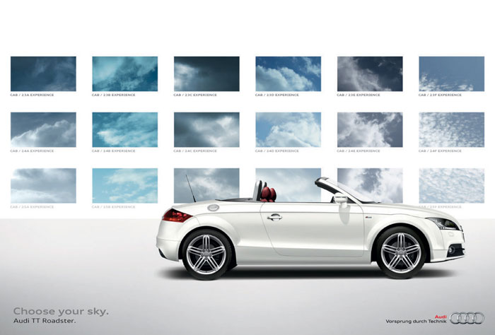 Choose your sky Print Advertisement