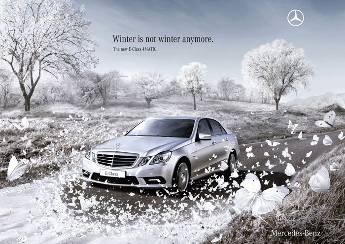 Winter is not winter anymore Print Advertisement