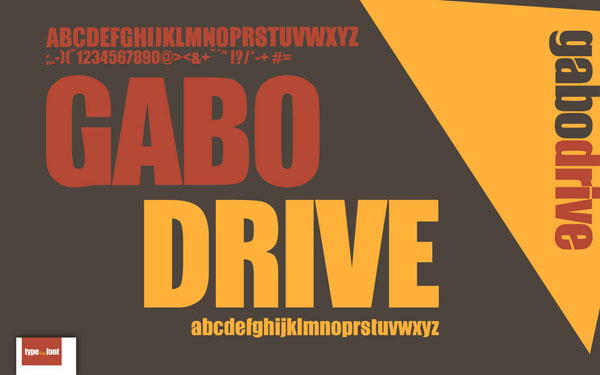 Gabo Free Headline Bold Font available for Download