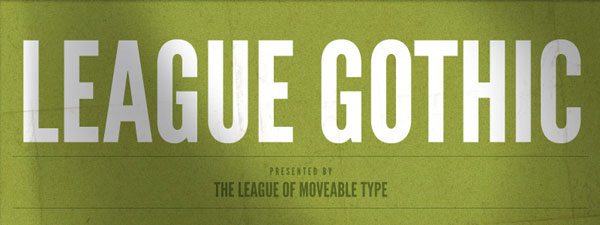 League Gothic Free Headline Bold Font available for Download