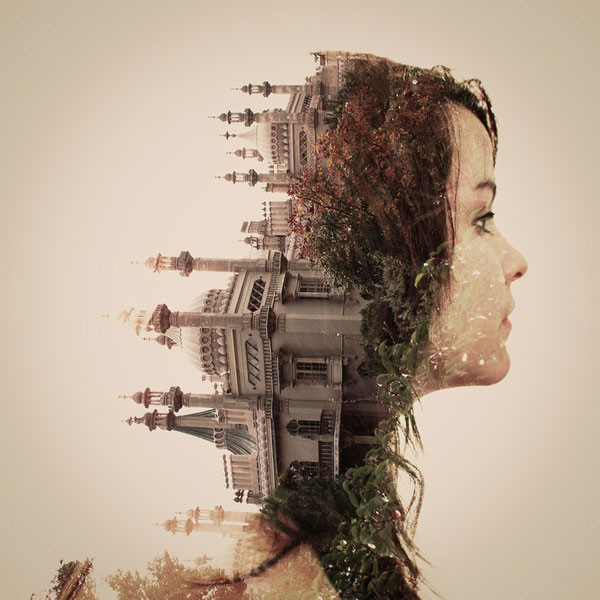 DOUBLE EXPOSURE PORTRAITS by British Designers