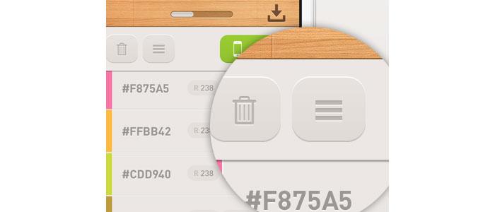 Detail screen User Interface Design Inspiration