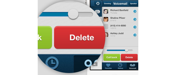 iPhone UI - Side pocket voicemail User Interface Design Inspiration