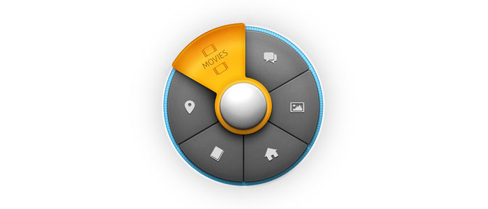 Circular Menu User Interface Design Inspiration