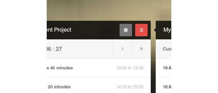 TimeFrame App Concept User Interface Design Inspiration