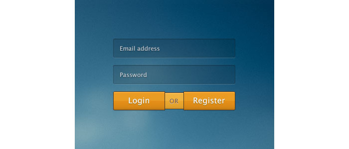 Rebound: login or register User Interface Design Inspiration