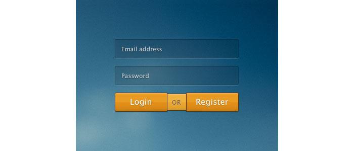 Rebound: login or register User Interface Design Inspiration