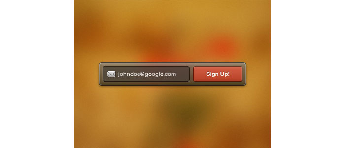 Sign Up Widget User Interface Design Inspiration