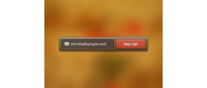 Sign Up Widget User Interface Design Inspiration