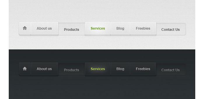 Light and dark menu User Interface Design Inspiration